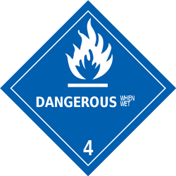 Division 4.3: Substances which, in contact with water, emit flammable gases